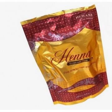 Poudre de henné marron- Hemani