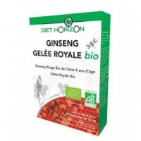 Ginseng Gelée Royale Bio - 20 ampoules - Diet Horizon