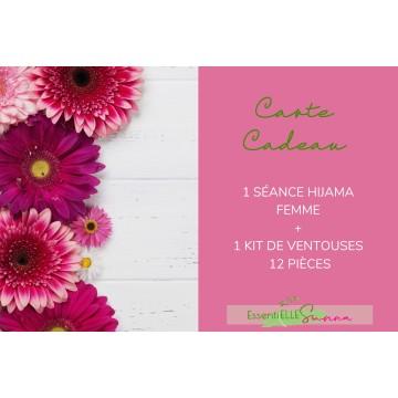 Carte Cadeau 1 séance hijama femme+ 1 kit de 12 ventouses