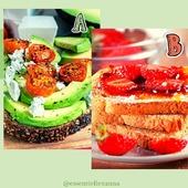 """Qui dit rentrée, dit souvent pressé.e le matin.  Il est possible de se faire une tartine """"rapidement"""" malgré tout. Alors plutôt A ou plutôt B?         #rentree #petitdej #sain #rapide #healthyfood  #addictausucre #sale"""